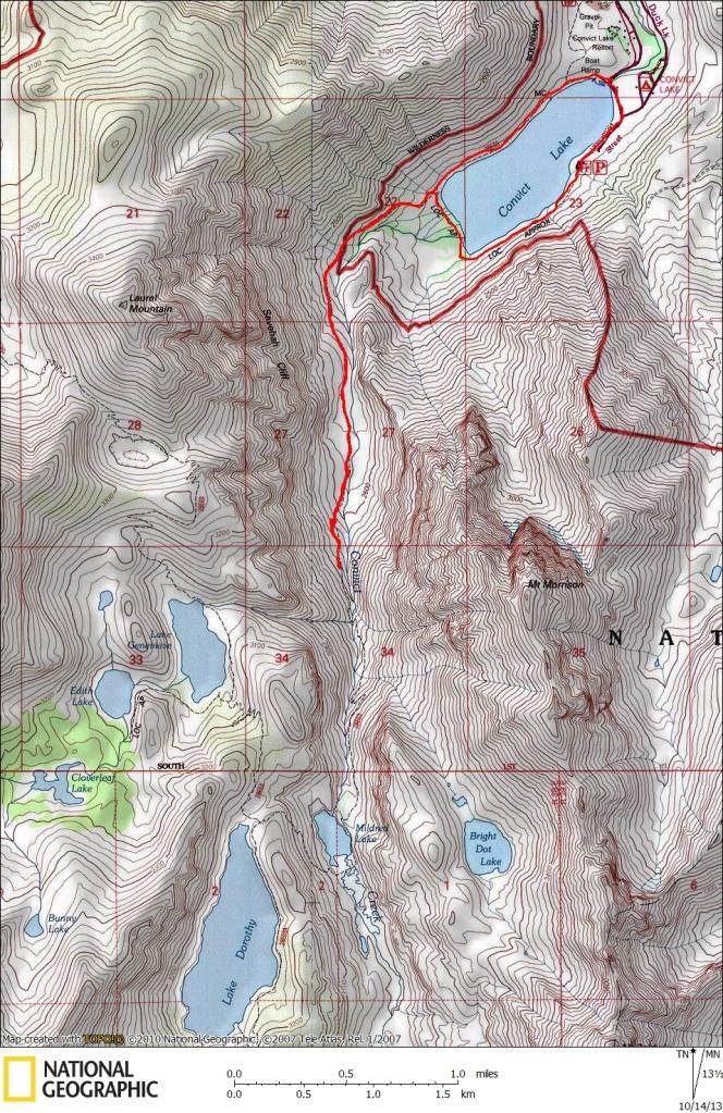 Convict Lake Map